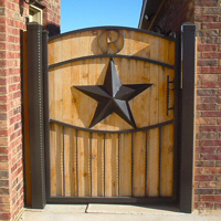Ornamental Iron Gate #5 | Tumbleweed Mfg | Amarillo, TX