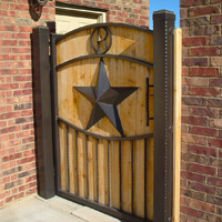 Ornamental Iron Gate #6 | Tumbleweed Mfg | Amarillo, TX